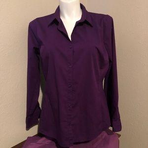 Purple button down blouse